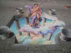 3D Street Painting - Cupid & Psyche by Tracy Lee Stum, via Flickr