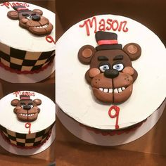 Five Nights at Freddy's Cake by Sweet Traditions #fivenightsatfreddys #fnaf #birthdaycake