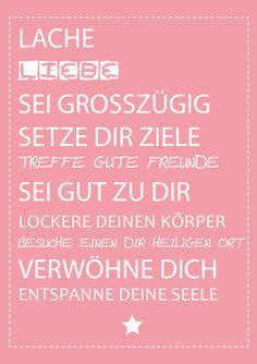 Originaldruck - Druck ♥ Sei gut zu Dir ♥ - Druck A4 per Post - ein Designerstück von ZuckerZauber bei DaWanda