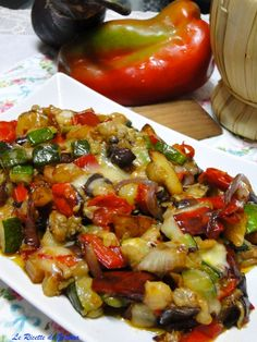 Veggie Side Dishes, Vegetable Dishes, Side Dish Recipes, Italian Dishes, Italian Recipes, Macro Meals, Cooking Recipes, Healthy Recipes, Diet And Nutrition