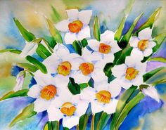 """Spring Delight"", original painting by artist Meltem Kilic 