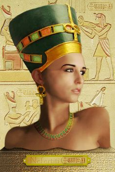 Wk 55 Nefertiti by ~mackrafty on deviantART Egyptian Beauty, Egyptian Goddess, Egypt Queen, The Bible Movie, Ancient Egypt Art, Queen Nefertiti, Halloween Design, Gods And Goddesses, Ancient Civilizations