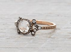 """Another cool one!  I like this company!  """"Black Rose"""" - Rose gold with oxidized silver."""