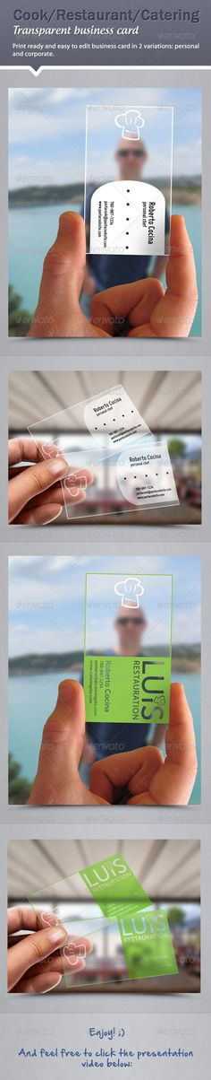 Chef / Restaurant / Catering business cards great idea for business card / визитки