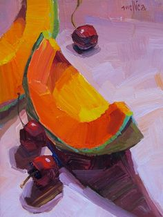 Edibles Summary Block — Paintings By Patti Mollica Fruit Painting, Gouache Painting, Painting Still Life, Still Life Art, Painting Inspiration, Art Inspo, Images Google, Guache, Arte Pop