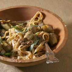 Fettuccine with Artichokes and Chicken Recipe | SAVEUR