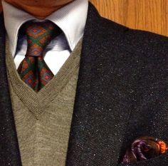 #Elegance #Fashion #menfashion #menstyle #Luxury #Dapper #Class #Sartorial #Style #lookcool #Trendy Mens Fashion 2018, Male Fashion, Rockabilly Fashion, Rockabilly Style, Tweed Waistcoat, Elegance Fashion, Business Casual Attire, Suit Shirts, Elegant Man
