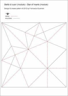 Origami poesie di carta: Stella di cuori