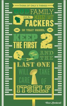 GO PACK Vince Lombardi Quote Poster by Drew Koch, via Behance