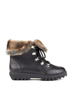 Cougar Zag Faux Fur Lace-Up Waterproof Low Shaft Boot Shoe Boots, Shoes, Leather Ankle Boots, Timberland Boots, Hiking Boots, Faux Fur, Lace Up, Casual, Women