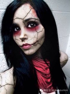 Great Halloween make-up idea on Pinterest!