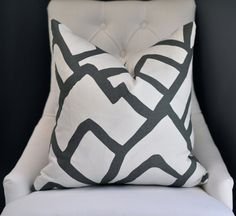 READY TO SHIP  20sq Schumacher Zimba pillow cover in by woodyliana, $70.00