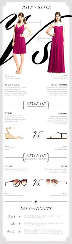 Wish I had this before my wedding -- guide to Beach Formal vs Beach Casual -- how to dress for a beach wedding. #beach #wedding #destination