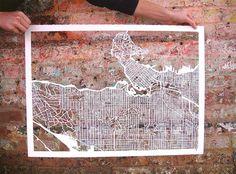 Stadtkartenskelette -Vancouver