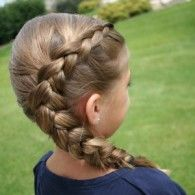 Gallery | Cute Girls Hairstyles: Side dutch braid, made by bringing the side strands UNDER the middle one, instead of over.