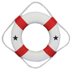 """Amazon.com : Handcrafted Nautical Decor Decorative Life Ring Lifering, 10"""", Red : Hobby Tools : Toys & Games"""