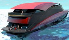Blackjack, Luxurious Mega Yacht with Parking Area Cool Boats, Small Boats, Yacht Design, Boat Design, Yatch Boat, Utility Boat, Yacht Cruises, Cabin Cruiser, Remo