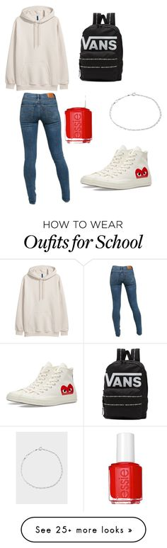 """a school day look"" by virginialoveskitties on Polyvore featuring Levi's, Converse, Vans, Essie and Paul Smith"