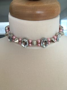 #prettyinpunk from my @Etsy shop https://www.etsy.com/ca/listing/473679589/pretty-in-punk-glam-choker-pink