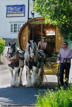 Gypsy caravan, Casterton, Cumbria