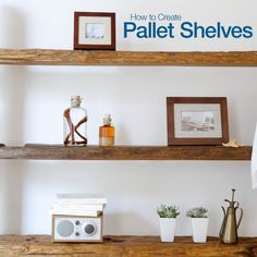 @For Rent.com is showing you How to Create #Pallet Shelves for your #apartment.  It's a quick and easy #DIY project that is even easier on your wallet.