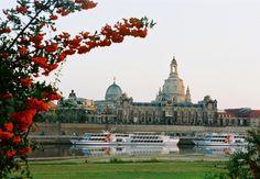 Dresden Elbufer mit Frauenkirche. Hier findet unser treffen statt.