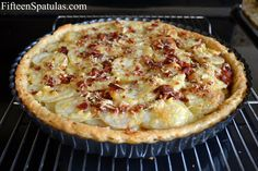 This heavenly Potato Tart layers thin slices of russet potatoes, bacon, gruyere, and rosemary in a flaky pie crust. It's a special recipe that's perfect for brunch! Smitten Kitchen Pie Crust, Real Food Recipes, Yummy Food, Dessert Recipes, Rosemary Recipes, Food Dishes, Main Dishes, Side Dishes, Easy Pie Crust
