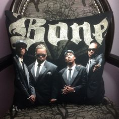 BONE THUGS n HARMONY  Upcycled Pillow Case Made from a by evilrose