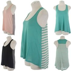 ebclo - Striped Racer Back Tank Top  $12.00 Free Domestic Shipping