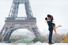 Tag a special someone who deserves a kiss like this! #parisphotographer #parisengagement #eiffeltower www.theparisphotographer.com