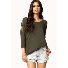 FOREVER 21 Spiked Frech Terry Sweatshirt ($20)