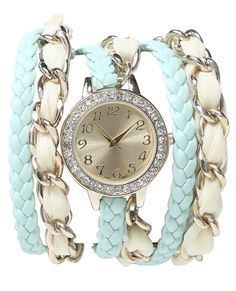 Chiffon Chain Wrap Watch - Teen Clothing by Wet Seal Cute Jewelry, Jewelry Box, Jewelery, Jewelry Accessories, Cute Watches, Teen Watches, Cheap Mk Bags, Puppy Backpack, Animal Bag