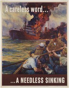 World War II poster = Loose Lips Sink Ships