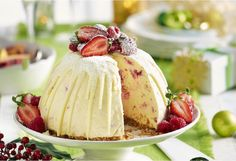 Decadent white chocolate and tart berries make for one sweet dessert.