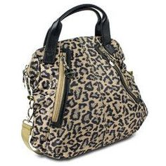 Travelon Leopard Tote with Front Pockets