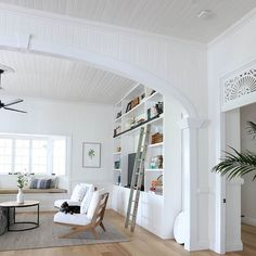 Want these chairs for Den! Queenslander House, Library Wall, How Its Going, Wood Species, Home Decor Inspiration, Old Houses, Living Area, Bungalow, Beach House