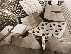 T.C Howard's Geodesics, Inc cardboard geodesic domes made in Raleigh, NC for the Marines 1954