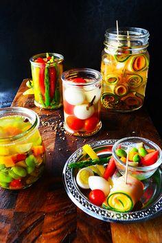 夏野菜のピクルスたち : 元バーテンダーの簡単家バルレシピ 金魚の肴 青山金魚