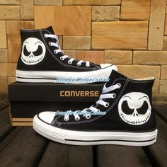 ART WORK Unique Converse Nightmare Before Christma,Halloween Tow