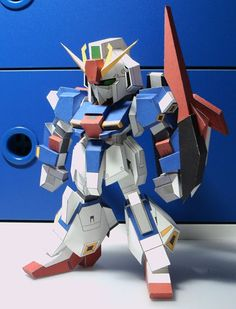 The Turbolabo blog has started releasing the patterns for their new Gundam papercraft, this is a chibi version of the Zeta Gundam (MSZ-006) ...