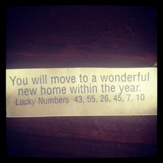 YES!! home fortune cookie - Google Search