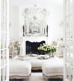 Stunning White living room