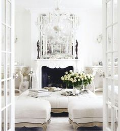 Stunning White living room