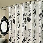 black & white curtain theme