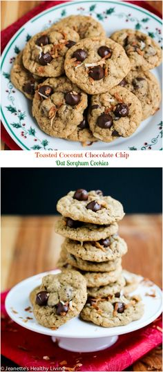 Toasted Coconut Chocolate Chip Oat Sorghum Cookies - these are a wonderful addition to your holiday cookie tray - they're healthy and naturally gluten-free too! #FallFest