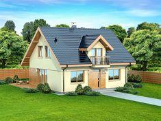 Zdjęcie projektu Armanda Mała WOK1055 Home Building Design, Building A House, House Design, Concept Home, Malaga, Home Fashion, My Dream Home, Outdoor Structures, Cabin