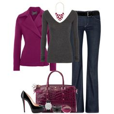 A fashion look from September 2012 featuring Donna Karan sweaters, Lanvin jackets and Citizens of Humanity jeans. Browse and shop related looks.