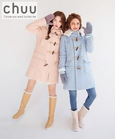 Wool Blend Toggle Buttoned Coat