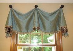 valance drapes | pleated valance with finials valance 7 uses the same