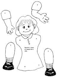 Resultado de imagen para cuerpo niño colorear